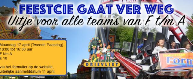 Feestcie gaat al bijna naar Drievliet!