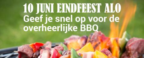 10 juni eindfeest met mixtoernooi en BBQ