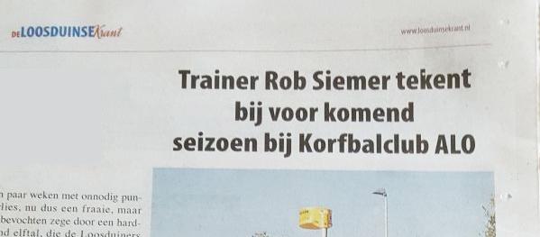 ALO en Rob Siemer continueren samenwerking