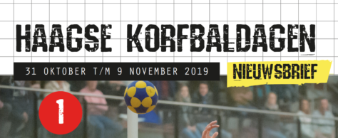 Haagse Korfbaldagen publiceert eerste nieuwsbrief
