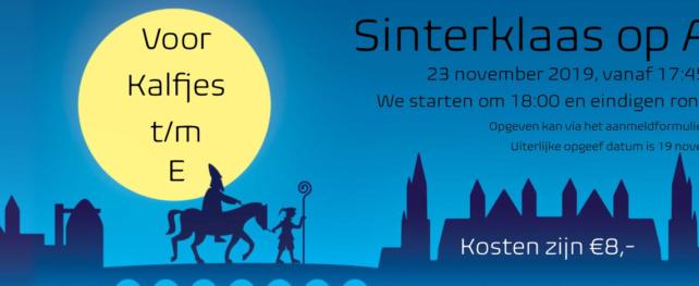 Sinterklaas komt op 23 november naar ALO!