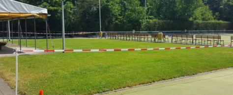 Weer een mooi groen grasveld voor het ALOodsje